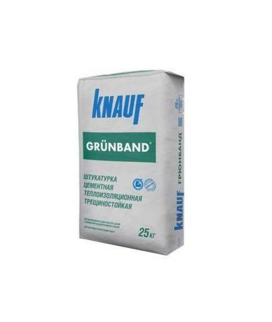 Штукатурка цементная теплоизоляционная фасадная Knauf Grunband