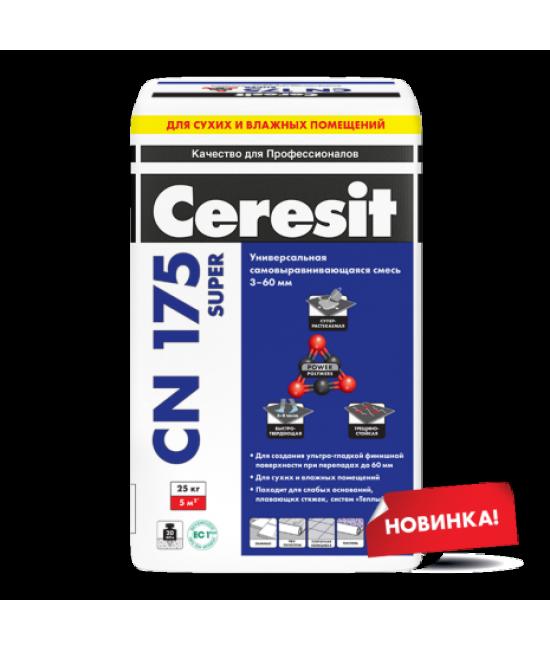 Универсальная самовыравнивающаяся смесь Ceresit CN 175 Super